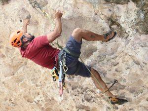 Sergio Ramos at Roi Rincon Rock Climbing Curacao